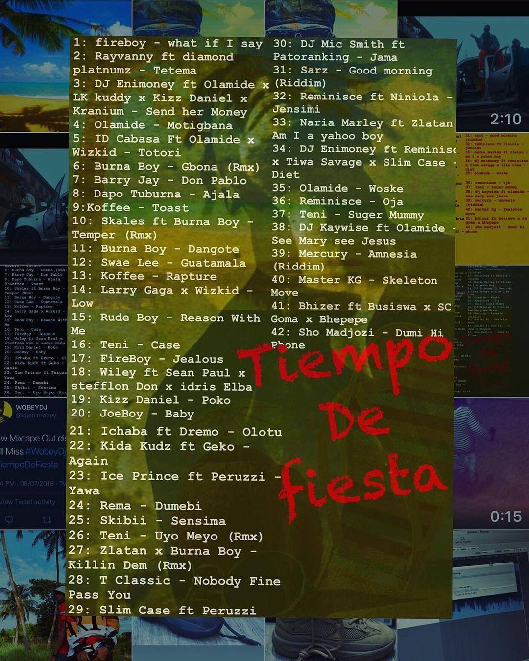 MIXTAPE] DJ Enimoney - Tiempo De Fiesta Mixtape MP3 » Naijashaku